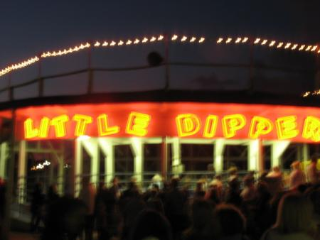 The Little Dipper lit up at night